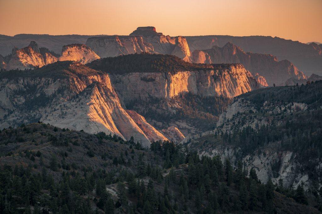 lava point sunset zion national park
