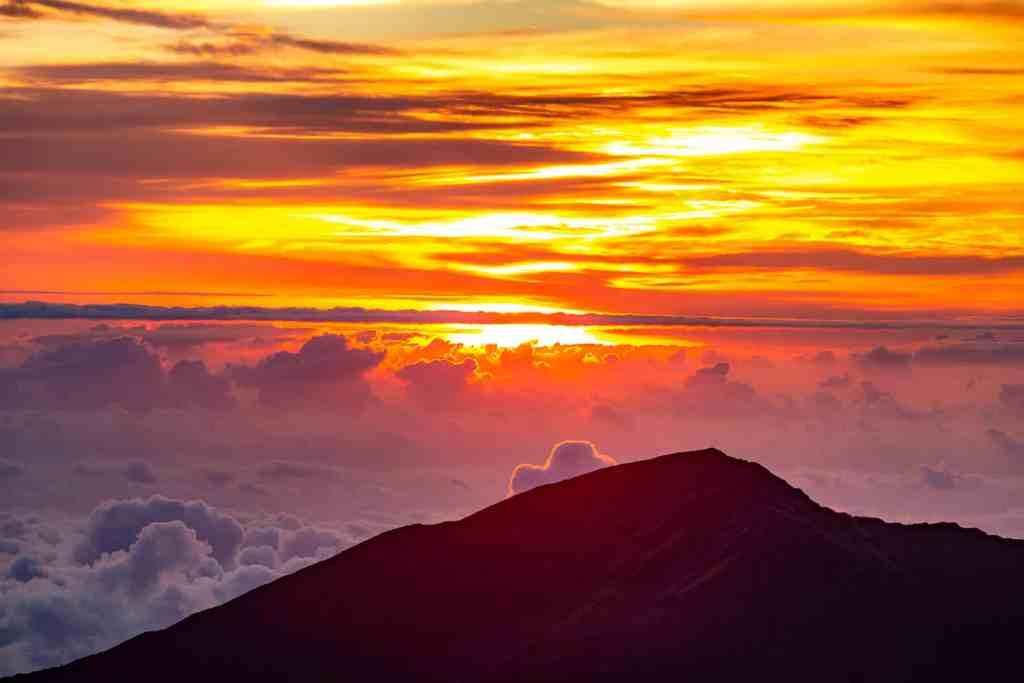 sunset from haleakalā