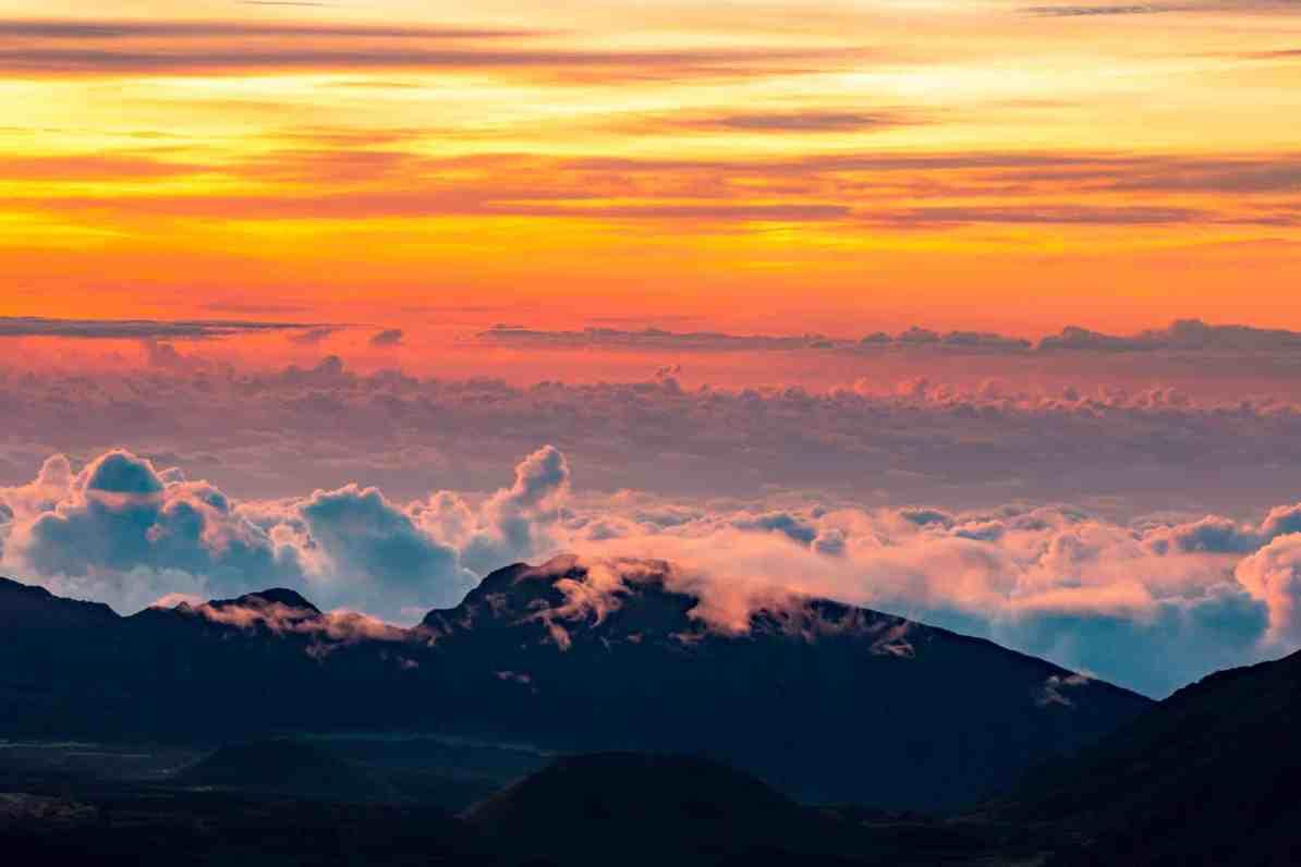 Haleakala National Park Summit Sunset, Maui, hawaii national parks