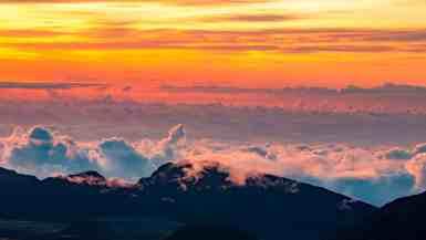Haleakala National Park Summit Sunset, Maui, hawaii