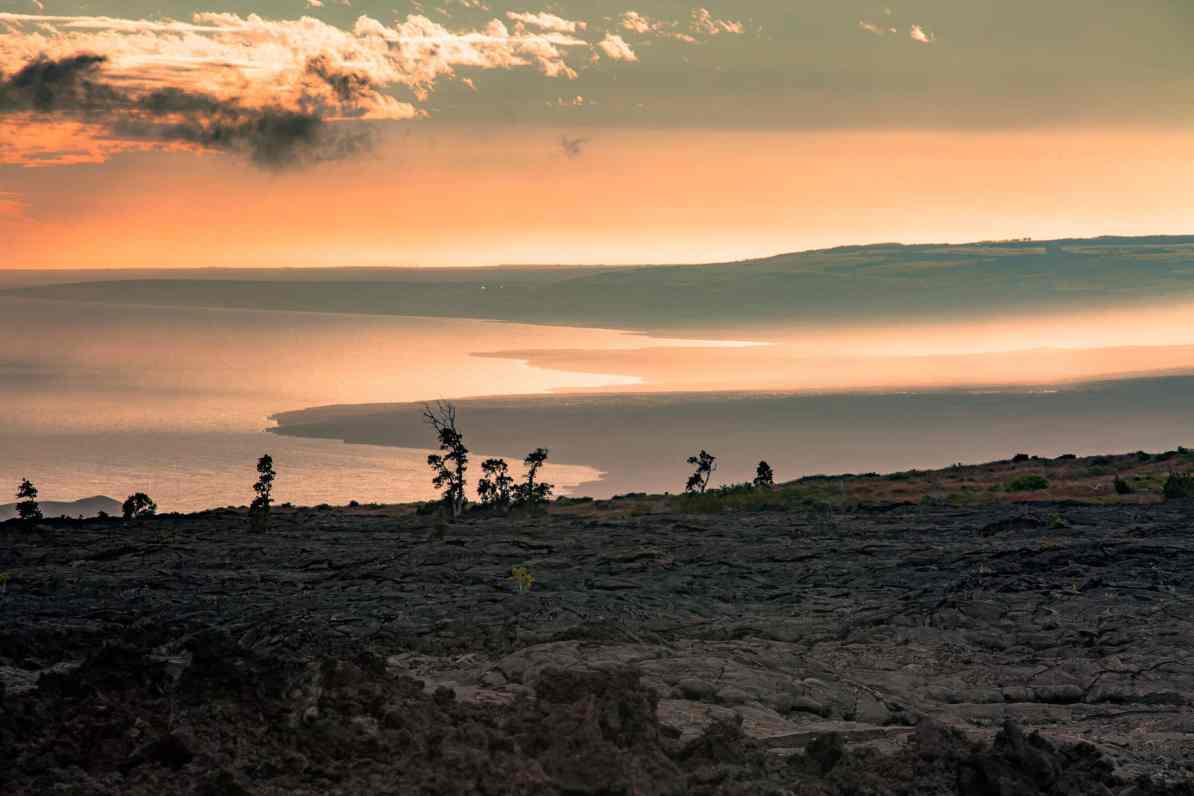 Hilina Pali Overlook hawaii volcanoes national park