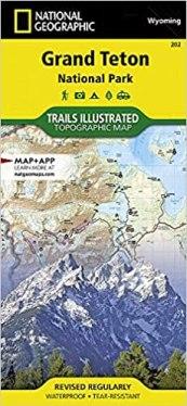 NatGeo Grand Teton Map