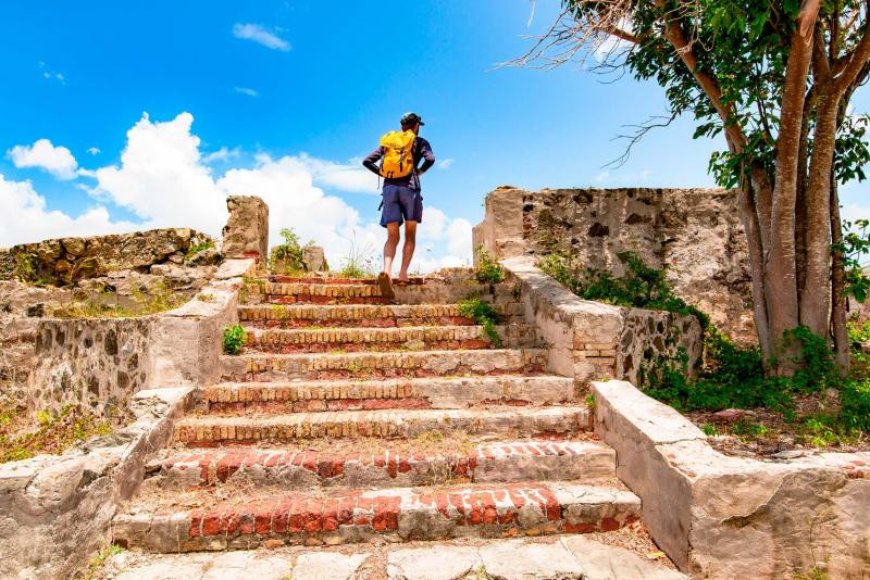 leinster bay trail virgin islands national park waterlemon cay ruins hike