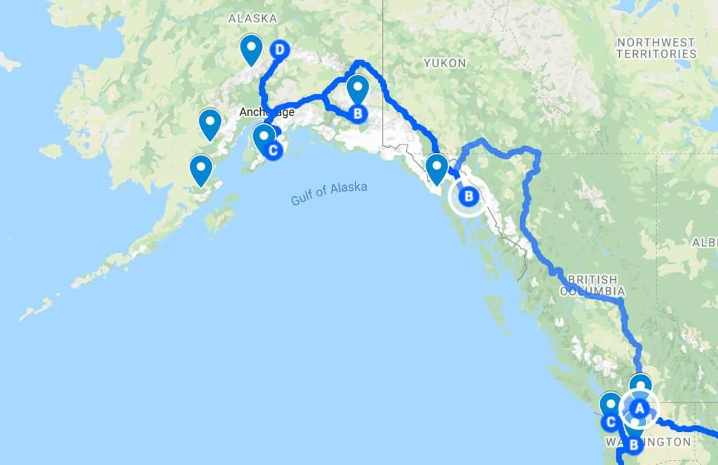 all 63 national parks road trip map alaska