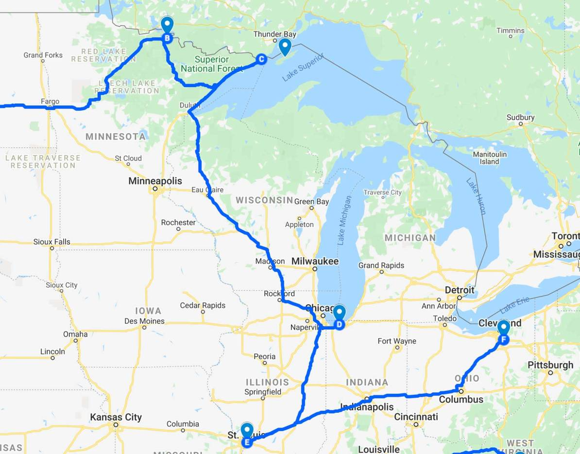 Great Lakes National Park Road Trip