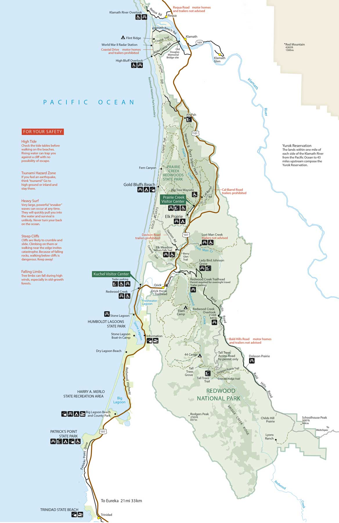 redwood national park map