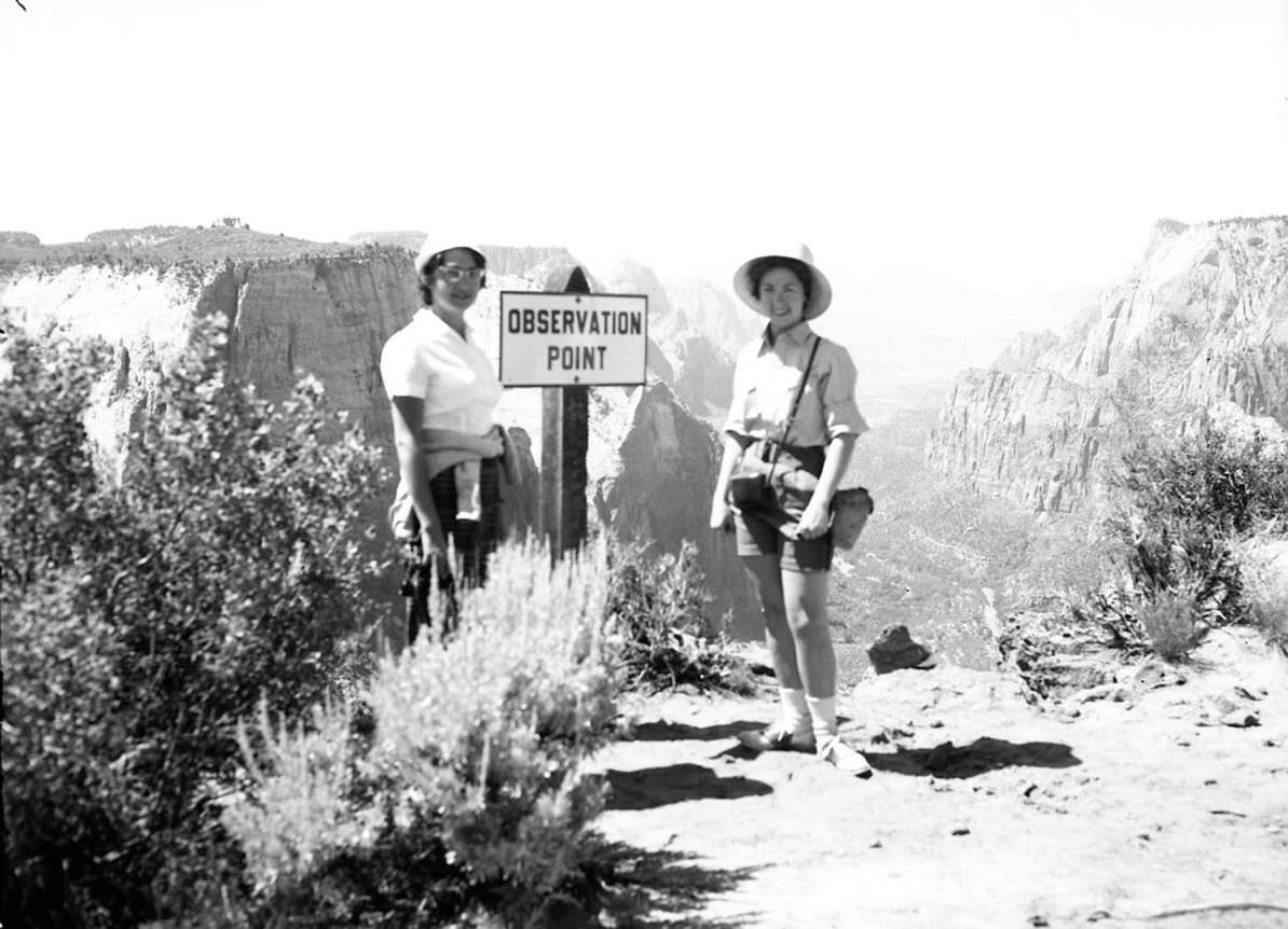 zion national park history - observation point