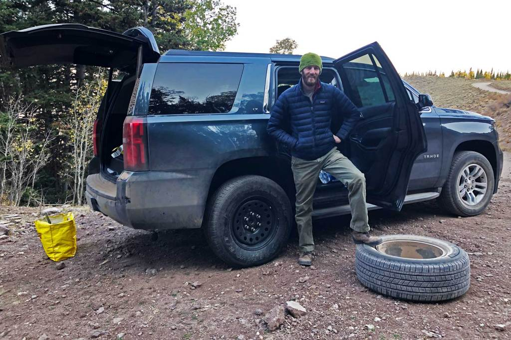 flat tire fishlake national forest