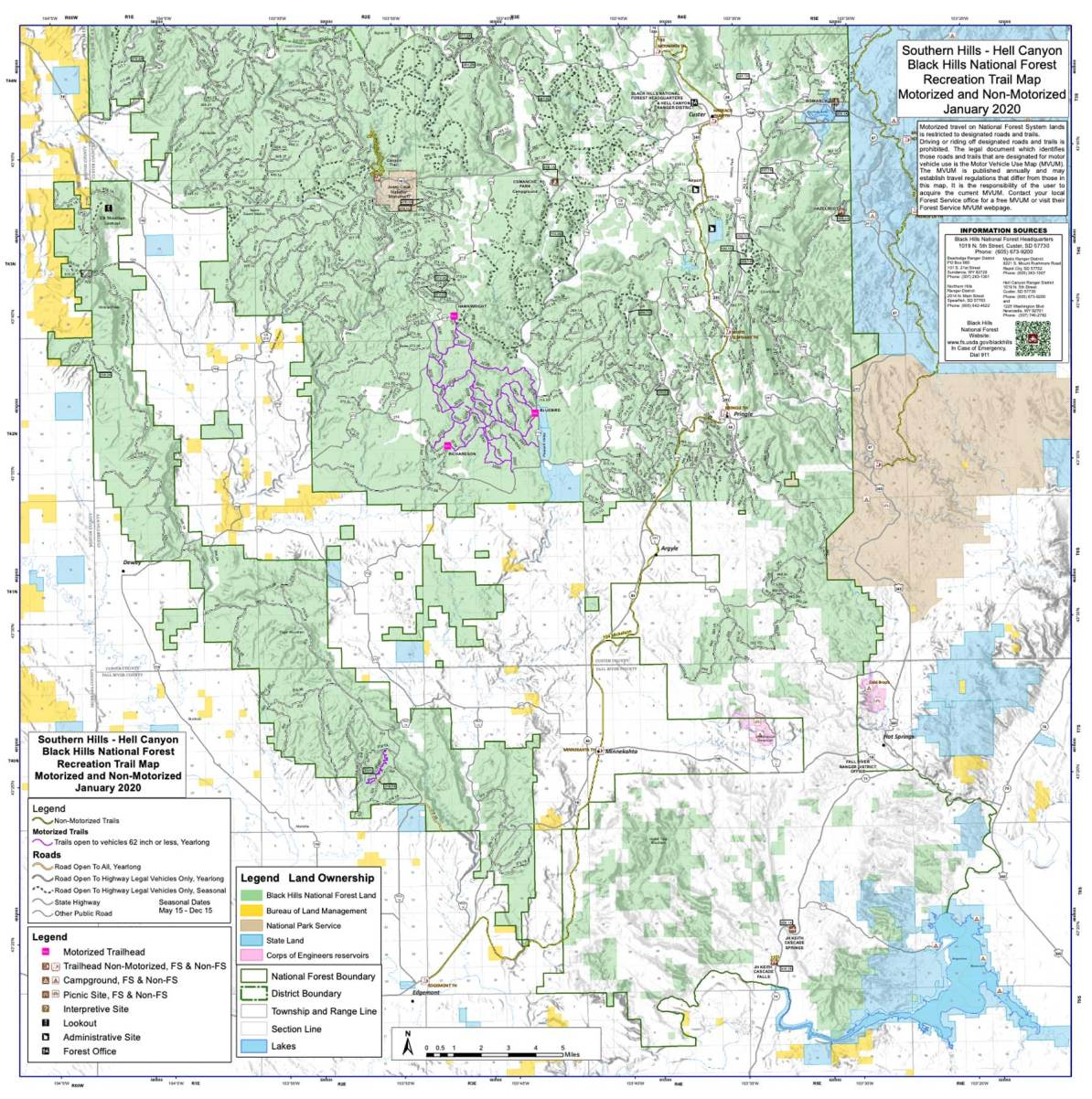 hell canyon ranger district map