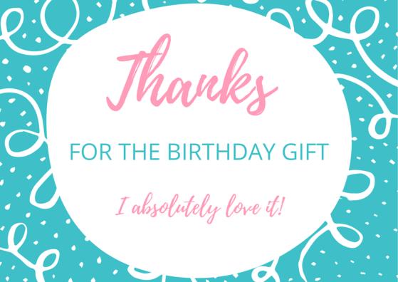 free birthday thank you