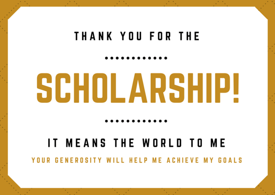 Scholarship Thank You Letter Examples