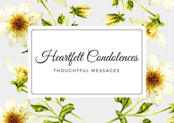 condolence messages what to
