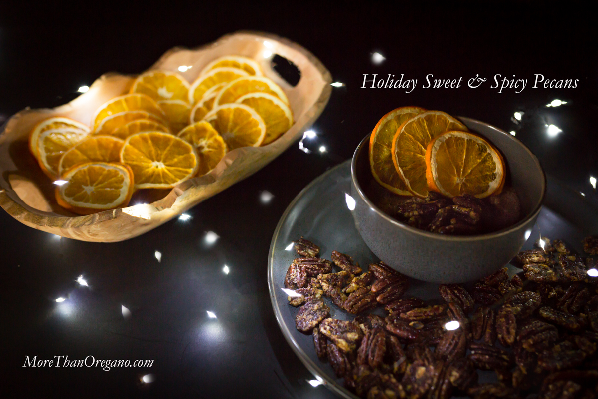 Holiday Sweet Spicy Pecans