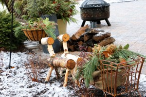 Make It For The Birds ~ Winter Patio Garden