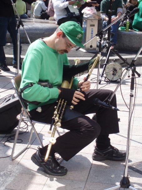 Uillean Pipes at the St. Patricks Day Parade in Osu, Nagoya