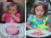 The Birthday Girls digging in!