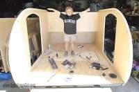 Homebuilt Teardrop Trailer 2: Walls & Interior Skin - More ...