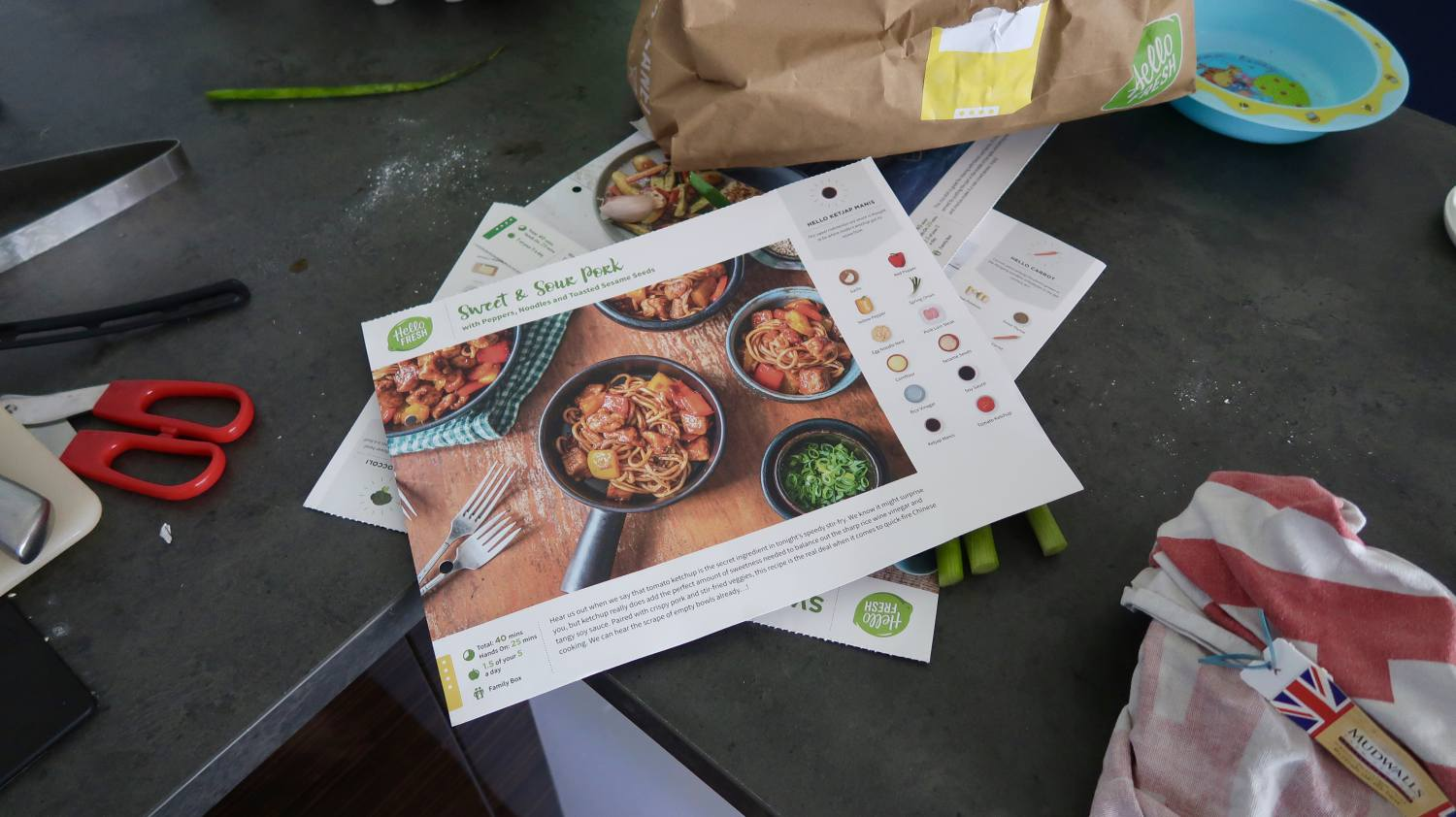 A HelloFresh Family Box