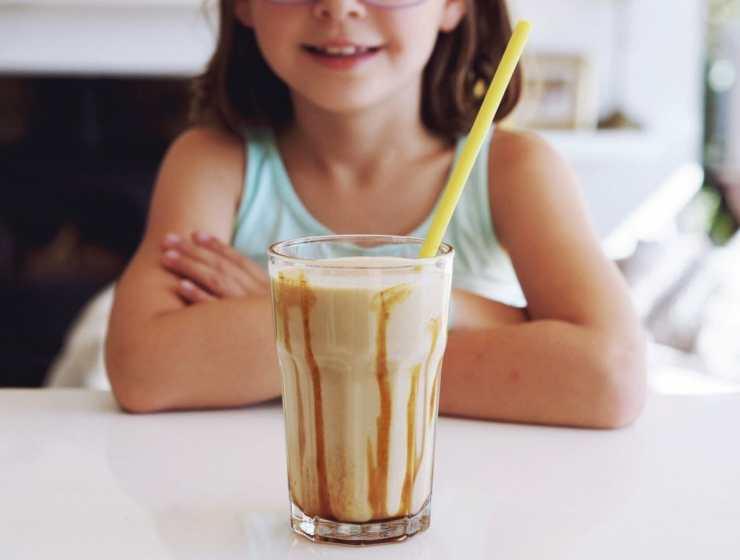 Banana Salted Caramel milkshake