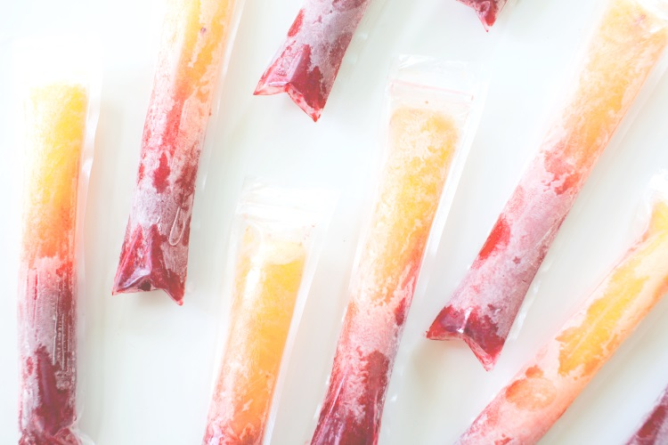 Raspberry Peach Pops