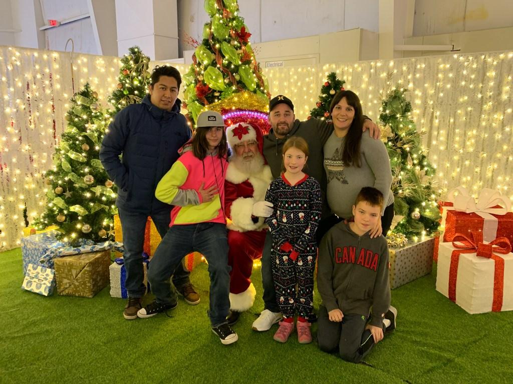 Santa visit at Christmas Glow 2019