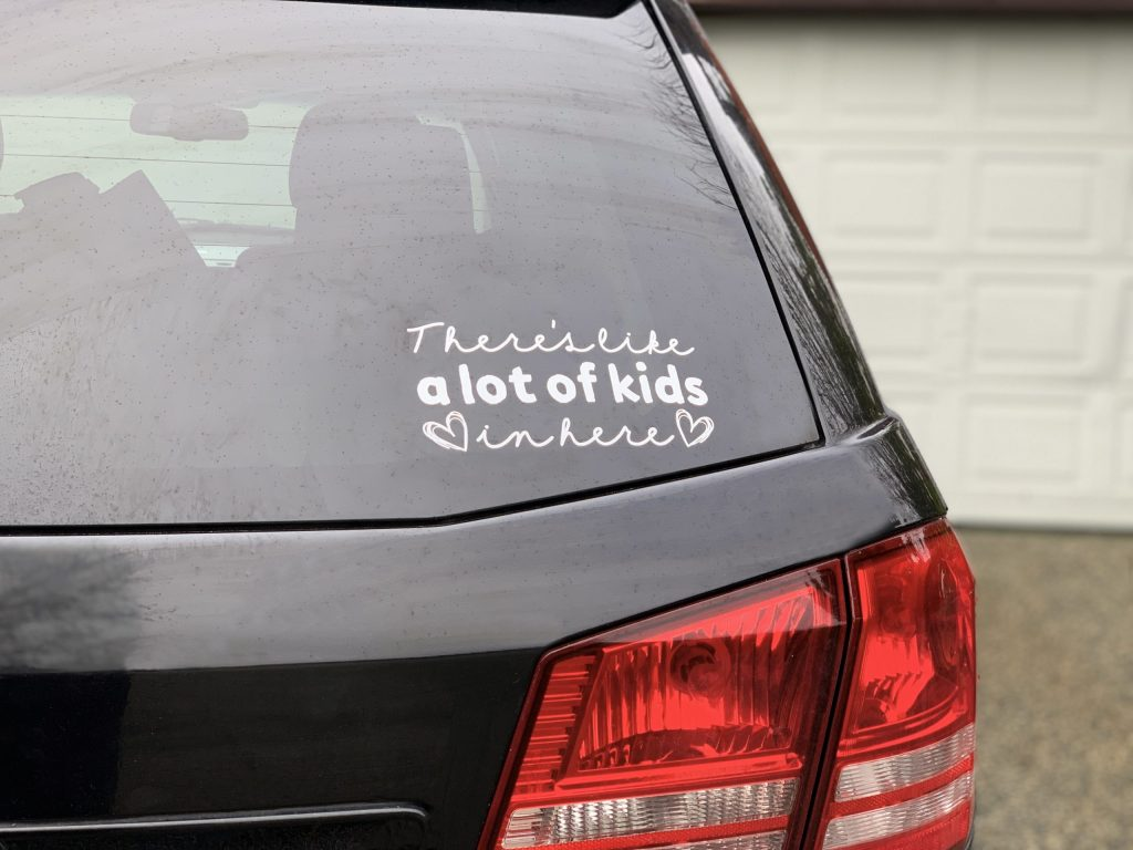 DIY vinyl car decal made with the Cricut Maker