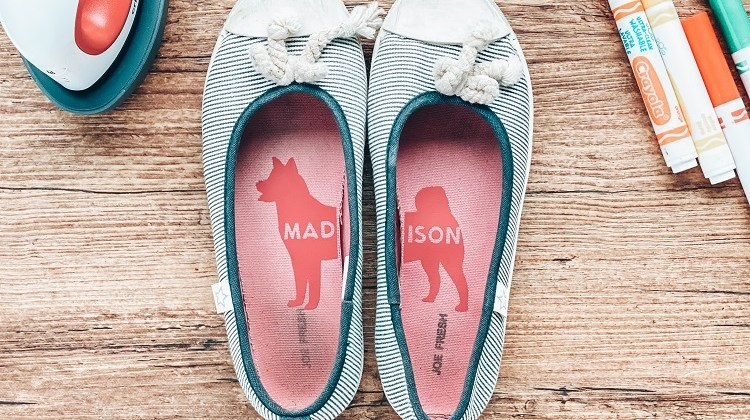 Put your best foot forward for back to school with Cricut personalized shoe labels