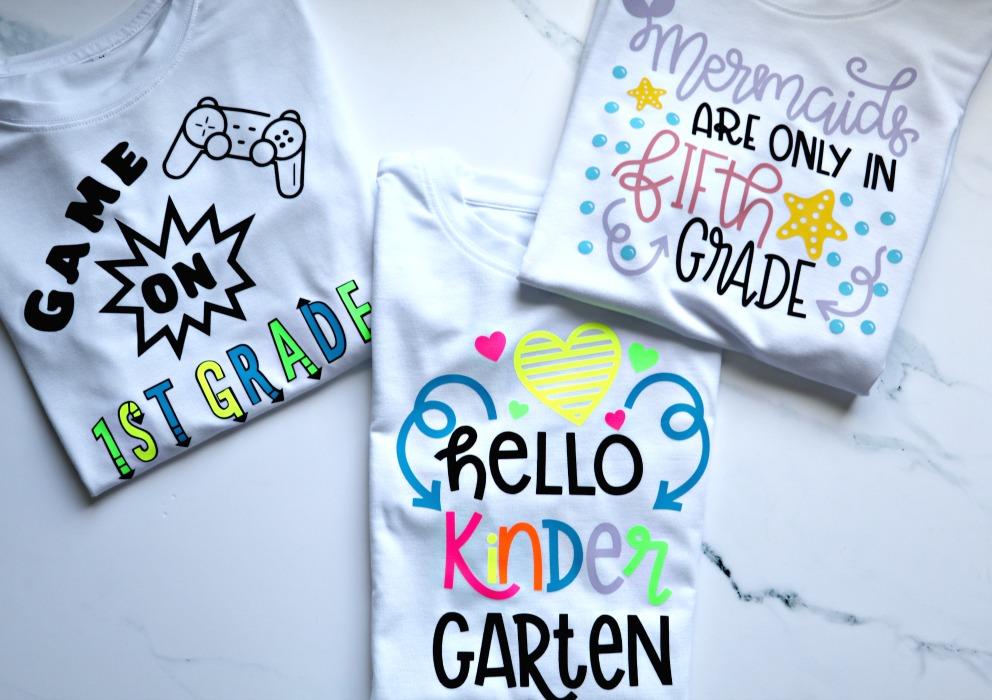 Cricut personalized t-shirts