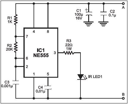 TWO DIGIT COUNTER USING IR TRANSMITTER AND RECEIVER