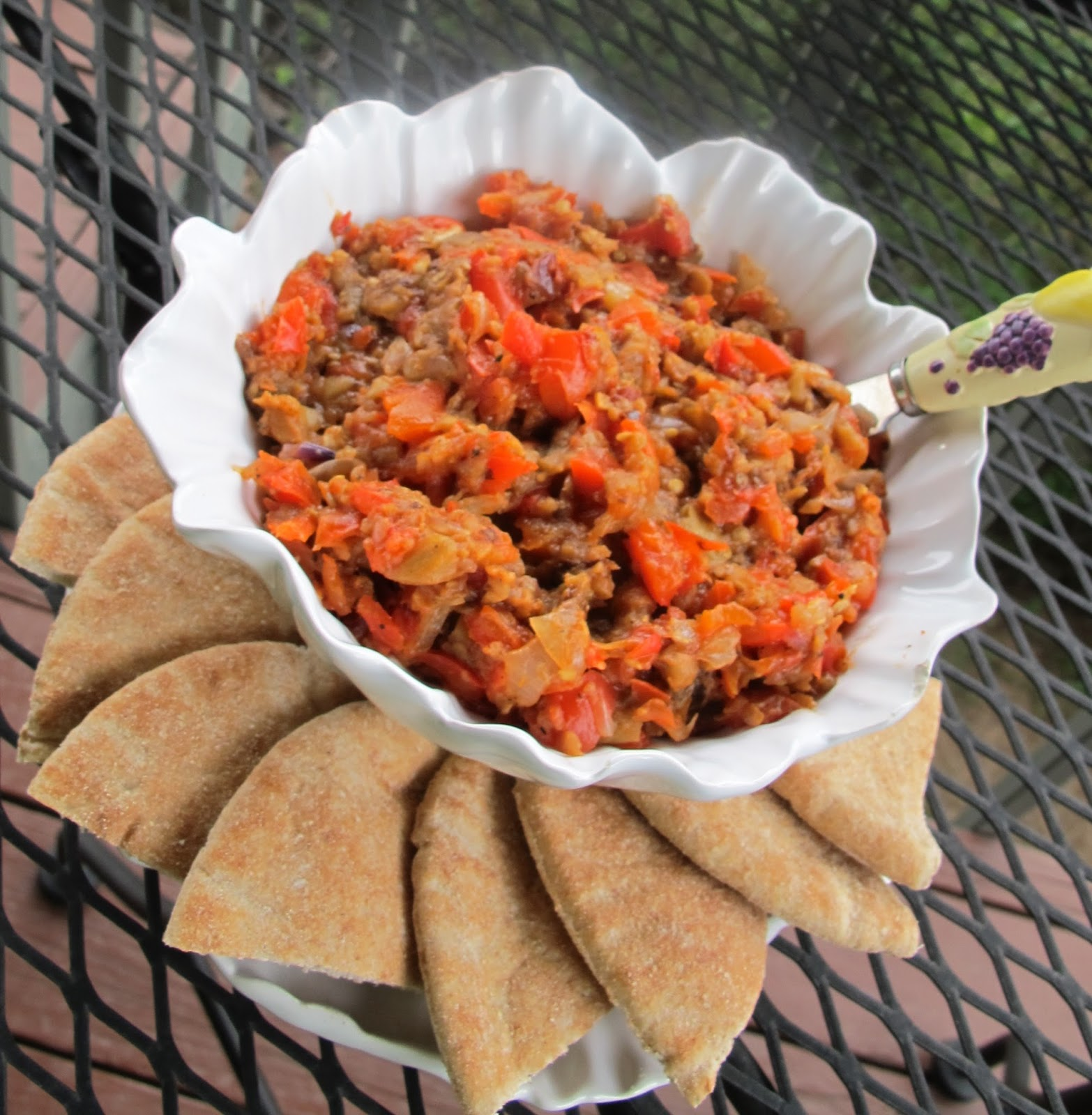 Ina Fridays — Appetizers — Roasted Eggplant Spread | More