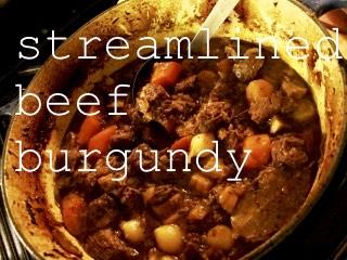 Streamlined Beef Burgundy