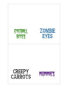 thumbnail of Halloween Food Labels 2