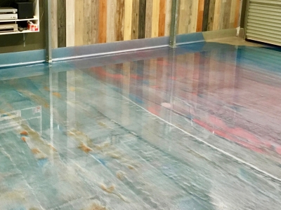Mixed Colours in Epoxy - Moreton Bay Floors
