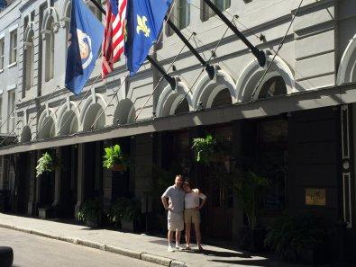 Ben & Penny outside the Pelham Hotel