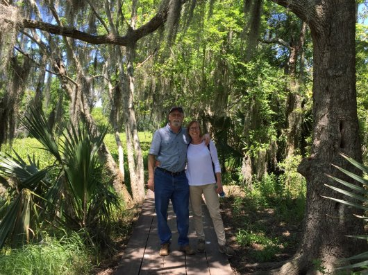 Greg & Penny in the swamp