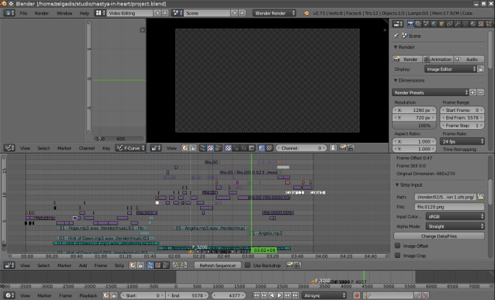 The main project file doesn't looks like a typical Blender file, since it contains a video sequence.