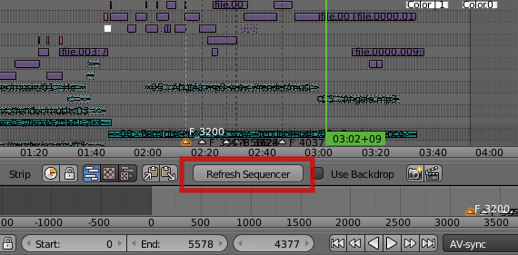 "The ""Refresh Sequencer"" button"