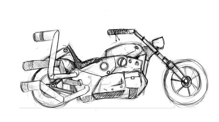 Bike concept by Nikolai Mamashev and Anastasia Majzhegisheva