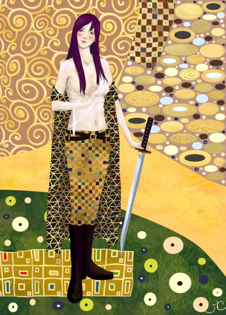 """""""Marya Morevna a la  Gustav Klimt"""" by Ksenija Kuzjaeva"""