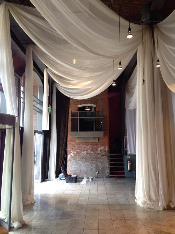 Ceiling Drapes  More Weddings