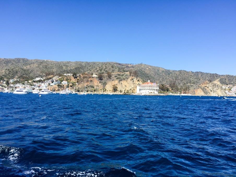 Pulling into Catalina Port