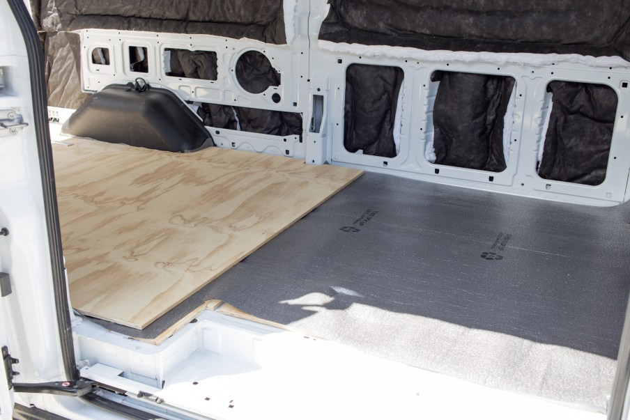 Plywood on top of underlayment