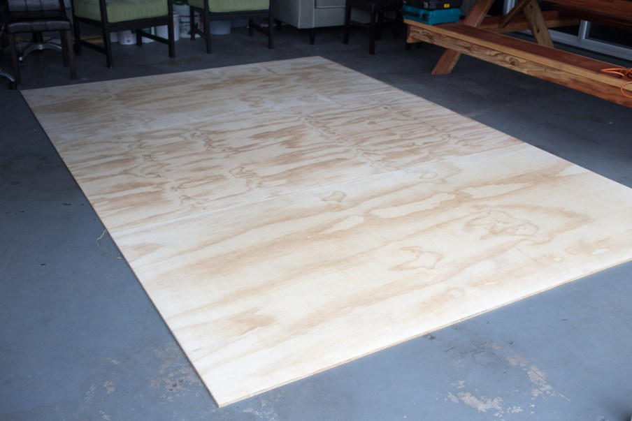 3 sheets of plywood