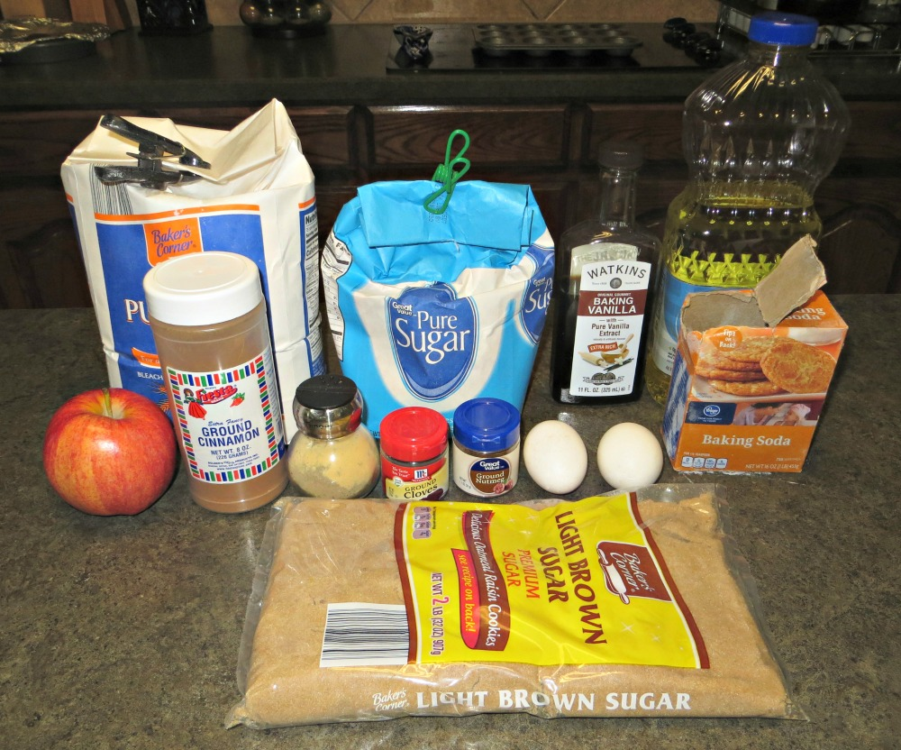 spiced apple muffins ingredients