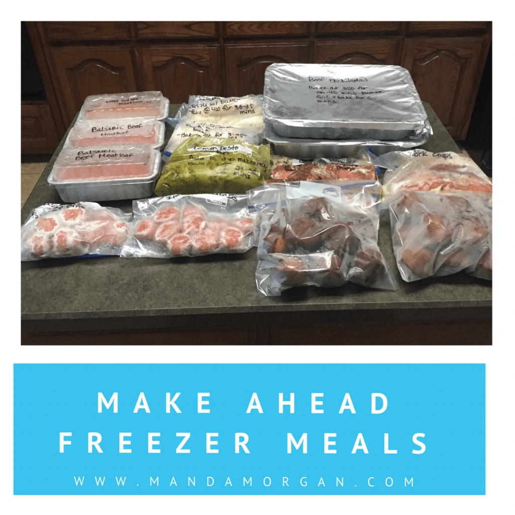 Make Ahead Freezer Meals - Authentically Amanda - www.mandamorgan.com