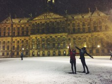 Really excited about snow and the Royal Palace