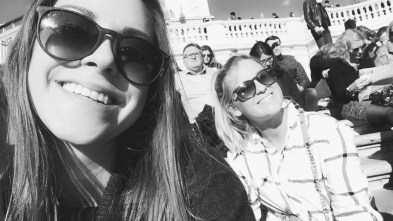 Basking in the sun on the Spanish Steps