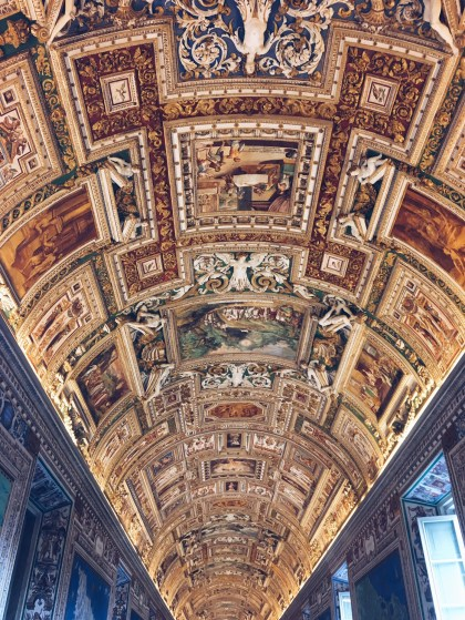 Not allowed to take pics of the Sistine Chapel so here's a different cool cieling