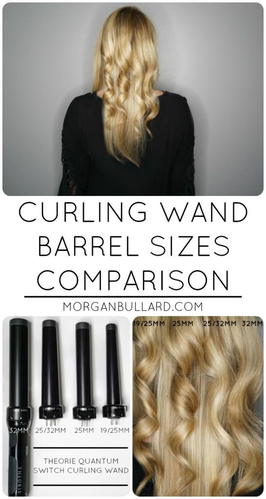 Curling Wand Barrel Sizes Comparison