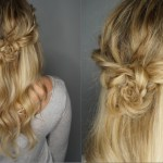 Half Up Braided Flower Bun